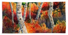 Forest In Color Bath Towel