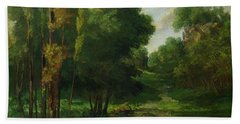 Forest Landscape Bath Towel
