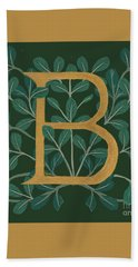 Forest Leaves Letter B Hand Towel