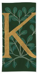 Forest Letter K Hand Towel