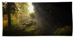 Forest Light Trail Hand Towel