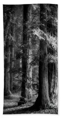 Forest Monochrome Bath Towel by Mark Alder