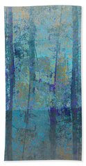 Bath Towel featuring the photograph Forest Morning Light Blue by Suzanne Powers