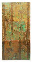Hand Towel featuring the photograph Forest Morning Light Brown by Suzanne Powers