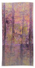 Bath Towel featuring the photograph Forest Morning Light Mauve by Suzanne Powers