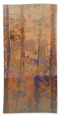 Hand Towel featuring the photograph Forest Morning Light Sepia by Suzanne Powers