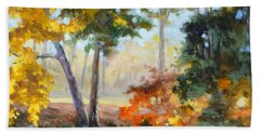 Forest Park - Autumn Reflections Hand Towel by Irek Szelag