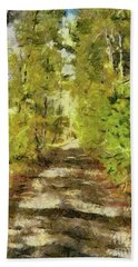 Forest Road Hand Towel by Dragica Micki Fortuna