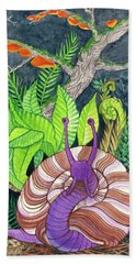 Forest Snail Bath Towel