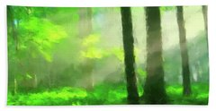 Forest Sunlight Hand Towel by Gary Grayson