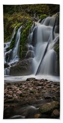 Hand Towel featuring the photograph Forest Waterfall by Chris McKenna