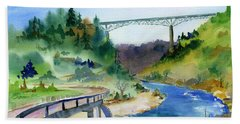 Foresthill Bridge #2 Hand Towel