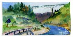 Foresthill Bridge #2 Bath Towel