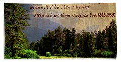 Forests In My Heart Hand Towel by Timothy Bulone