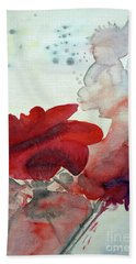 Hand Towel featuring the painting Forever by Jasna Dragun