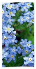 Forget-me-nots Bath Towel