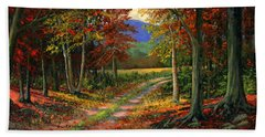 Hand Towel featuring the painting Forgotten Road by Frank Wilson