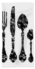Fork Knife And Spoon Hand Towel