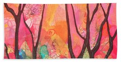 Iridescent Paintings Hand Towels