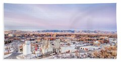 Fort Collins Aeiral Cityscape Hand Towel