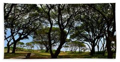 Fort Fisher Beach Trees  Hand Towel