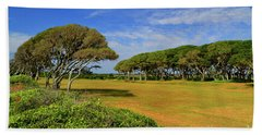 Fort Fisher Trees Hand Towel