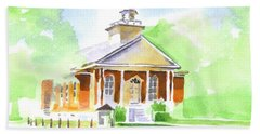 Hand Towel featuring the painting Fort Hill Methodist Church 2 by Kip DeVore