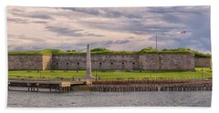 Fort Independence At Castle Island Bath Towel