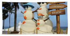 Fort Lauderdale Snowman Bath Towel