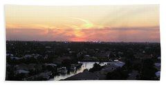 Fort Lauderdale Sunset Bath Towel by Patricia Piffath