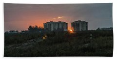 Fort Pierce Sunrise Bath Towel by Nance Larson
