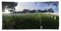 Bath Towel featuring the photograph Fort Rosecrans National Cemetery by Lynn Geoffroy