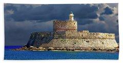 Fort Saint Nicolas Hand Towel by Anthony Dezenzio