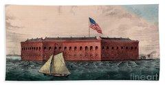 Fort Sumter, Charleston Harbor, South Carolina Bath Towel