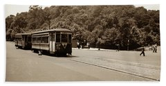 Fort Tryon Trolley Bath Towel by Cole Thompson