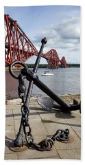 Bath Towel featuring the photograph Forth Bridge by Jeremy Lavender Photography