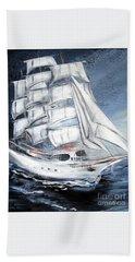 Fortunate. Sailing Ship Hand Towel