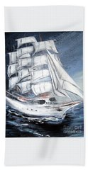 Fortunate. Sailing Ship Bath Towel
