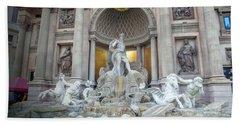 Forum Shops Statues At Ceasars Palace Bath Towel