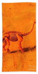 Fossilised Exhibit In Toy Dinosaurs Hand Towel