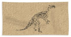 Fossils Of A Dinosaur Hand Towel