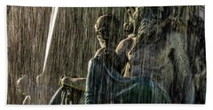 Fountain At Rossio Square Hand Towel