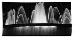 Fountain In Barcelona Bath Towel