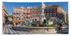 Fountain Of The Sun At Place Massena In Nice Hand Towel