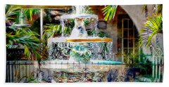 Fountain Of Water Hand Towel by Barbara Chichester