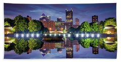 Fountain Reflections  Bath Towel
