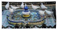 Fountain Seville Spain Hand Towel