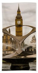 Fountain With Big Ben Bath Towel