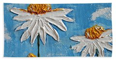 Four Daisies Bath Towel