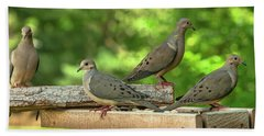 Four Doves In Search Of A Theme Bath Towel
